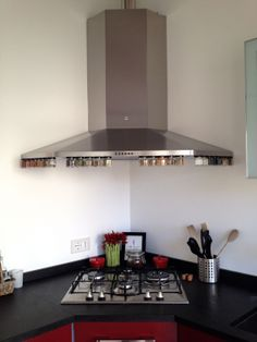 Hanging Spice Jars from Gneiss Spice. Compliment your modern kitchen! www.gneissspice.com