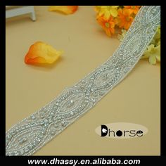 Dhorse DH-1535 new design high quality wholesale sparkle 100% handmade clear crystal beaded rhinestone trimming, View Dhorse DH-1535 new design high quality wholesale sparkle 100% handmade clear crystal beaded rhinestone trimming, Dhorse Product Details from Guangzhou Dhorse Garment Accessory Firm on Alibaba.com
