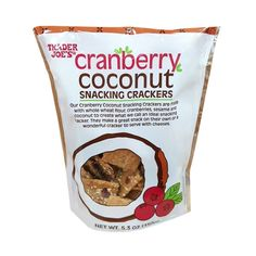 Cranberry Coconut Snack Crackers, $3 - These new additions to the Trader Joe's shelves are oddly addicting; at first bite, you might not get the hype, but you're likely to find yourself unable to quit consumingthem once you've started. Where they really get good, however, is when you pair them with cheese.