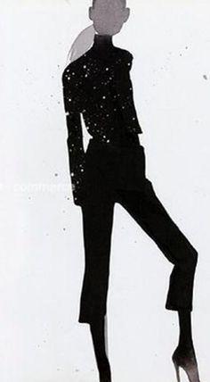 'i love black' illustration: mats gustafson via: so long as it's black