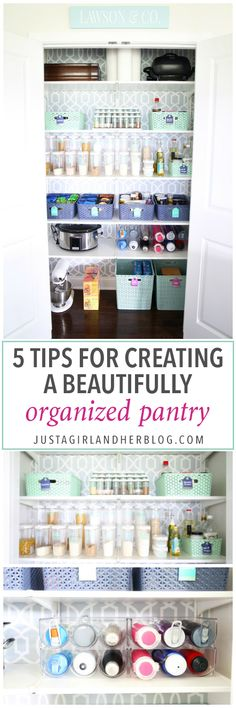 Home organization- organized kitchen pantry, organized pantry, decluttering, labels, bins, kitchen organization, pantry organization, beautifully organized pantry, IKEA ALGOT system, shelving, removable wallpaper