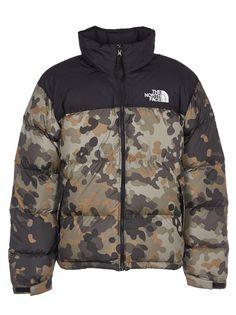 84b7982e3 The North Face Camo Print Logo Padded Jacket