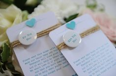 Cute Wedding Favours at Gosfield Hall