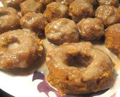 Apple Cider and Pumpkin (or squash) Donuts (glutten-free) 3 cups small pie pumpkin (or squash), peeled and chopped 3/4 cup organic apple juice 1/2 cup Coconut Flour 1/2 cup Raw Cashews, ground to coarse powder 1/4 cup Coconut Oil, melted 1/4 cup Coconut Cream or Coconut Butter, 1/4 cup honey or maple syrup 2 tsp. cinnamon 1 tsp. nutmeg  Read more at http://www.realfarmacy.com/diy-natural-apple-cider-and-pumpkin-donuts/#AhLqDJpik9R08RAU.99