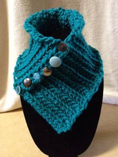 BRAND NEW Hand Crocheted Teal Blue Neck by TwistedTatters on Etsy