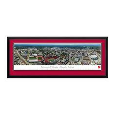 "Nebraska Cornhuskers 18"" x 44"" Aerial Deluxe Framed Panoramic Wall Art - $199.99"