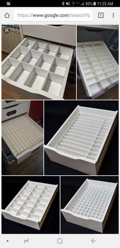 Ikea alex diy drawer inserts, foam poster board and an exacto knife. Ikea alex diy drawer inserts, foam poster board and an exacto knife. Alex Drawer Organization, Makeup Organization Ikea, Diy Makeup Organizer, Make Up Organizer, Organization Ideas, Ikea Makeup Storage, Ikea Drawer Organizer, Vanity Table Organization, Bedroom Organization Diy