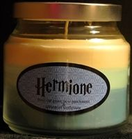 I want all of these candles... especially Hermione's.  It smells like new parchment, fresh cut grass and spearmint toothpaste.