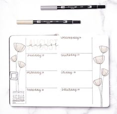 Bullet Journal Spread, Bujo, How To Remove, Diagram