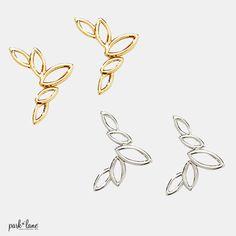 Crepe pierced earrings