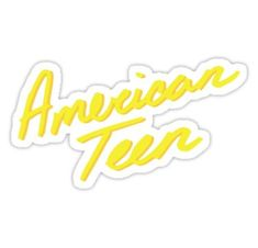 'American teen yellow' Sticker by