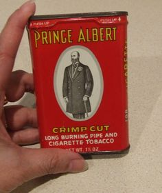 Prince Albert Tin, Vintage Tobacco Tin, Collectible Tin, Retro Tobacco Tin, Red Tobacco Tin, Man Cave Decor, Bar Room Decor, Shelf Decor by BeautyMeetsTheEye on Etsy