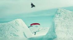 Swooping Under Snowmobile