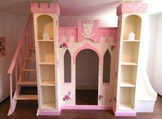 Nuevo proyecto entregado para una princesa :)  Fabricamos el mueble de tus sueños. Whatsapp: 2226112399  https://www.facebook.com/mueblesvintagenial #vintge #kids #castel #castillo #bed #cama