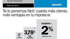 Sabadell lanza una hipoteca a Euribor + 2 % para competir con ING, Bankinter y Santander | Bolsa Spain