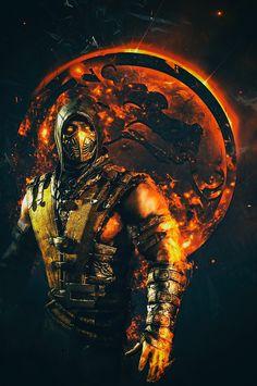 Mortal kombat Scorpion by SyanArt