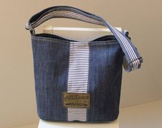 Upcycled Jean Bag,  Cross body denim bag, Casual Denim Bag, Organic cotton, Recycled Denim Bag, Handbag, Shoulder bag, Code: Viki-01