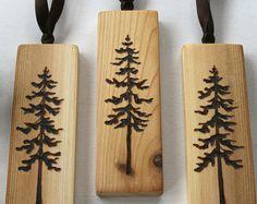 Winter Wonderland Set of 3 Birch Ornaments by TwigsandBlossoms