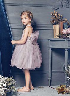Nellystella LOVE Peach Dress in Lavender Fog - N15F007 - PRE-ORDER