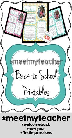 Free for a limited time! Great printables enabling parents to get to know you better.  Great to mail out a week before school, give at Meet The Teacher or to send home on the first day of school!