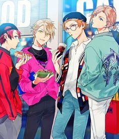 Boys Anime, Cute Anime Guys, Anime Art Girl, Manga Art, Anime Manga, Character Art, Character Design, Anime Guys With Glasses, Anime Group