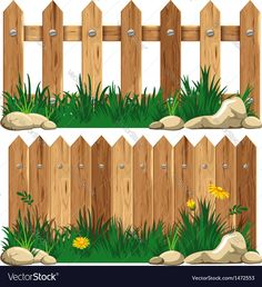 Illustration about Wooden fence and grass. Illustration of detail, field, nature - 32249636 Masha Et Mishka, Marsha And The Bear, Grass Vector, Family Tree Art, Animal Art Projects, Rooster Art, Farm Birthday, Farm Theme, Wooden Fence