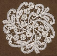 Rosaline Lace, my design and… Bobbin Lace Patterns, Crochet Doily Patterns, Bead Loom Patterns, Crochet Motif, Irish Crochet, Embroidery Patterns, Crochet Edgings, Crochet Shawl, Crochet Doilies