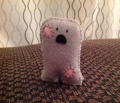 Reggie the Zombie  Cute Handmade Pocket Monster by MonsterDen, £6.50
