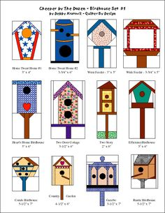 Debby Kratovil Quilts: Paper Pieced Birdhouses (and free pattern)