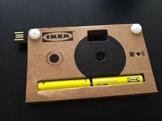 Cardboard digital camera made by IKEA as part of their press kit at the Milan Salone design show,
