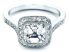 7. Tiffany Legacy Diamond Ring  This is another gorgeous ring with a cushion cut. But this time it has even more glamour and fabulosity to it!  2 carats, approximate price …
