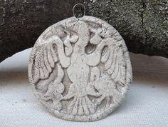 Ceramic Pendant Ancient Hungarian Motif Raku by BlueBirdyDesign, Tea Culture, Tin Containers, Ceramic Pendant, I Shop, Pendants, Pottery, Ceramics, Etsy, Ceramica