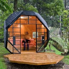 Portable dome. No patio? Make your own.