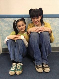 Abby and Mini Abby from the flashback episode...the name of which I don't even remember....