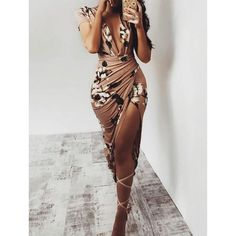 Floral Print Deep V Ruched Slit Bodycon Dress We Miss Moda is a leading Women's Clothing Store. Offering the newest Fashion and Trending Styles. Sexy Dresses, Cute Dresses, Beautiful Dresses, Fashion Dresses, Floral Dresses, Bohemian Dresses, Trendy Dresses, Long Dresses, Fashion Clothes