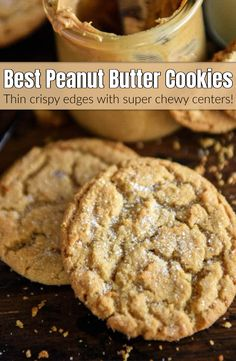 If you're looking for the BEST Chewy Peanut Butter Cookies, with super soft ch.If you're looking for the BEST Chewy Peanut Butter Cookies, with super soft chewy centers and tons of peanut butter flavor, this easy recipe is the one for you! Chocolate Chip Cookies, Chocolate Cookie Recipes, Easy Cookie Recipes, Cookie Ideas, Chewy Peanut Butter Cookies, Butter Cookies Recipe, Peanut Butter Recipes, Brown Butter Cookies, Peanut Butter Muffins