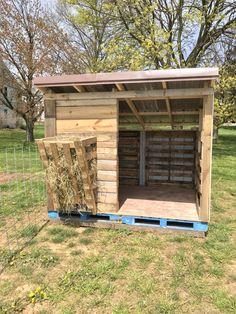 Sheep Shelter, Goat Shelter, Raising Farm Animals, Raising Goats, Goat Playground, Goat Shed, Goat House, Goat Barn, Homestead Farm