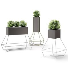 Halful planters by Joe Velluto for Plust