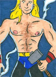 THOR Sketch Card by Korey Watkins, Avengers
