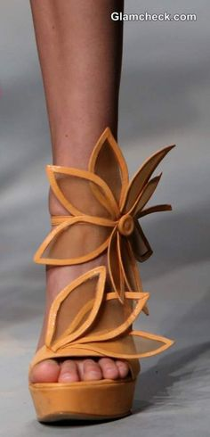 Shoes made by Ivan Ledenko on CRO A PORTER show on April 11 2014 in Zagreb Croatia