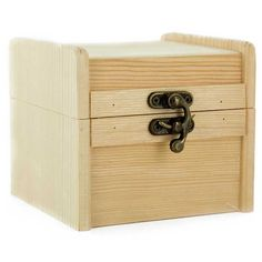 Wooden Box with Metal Clasp