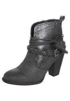 Cowboy-/ Bikerstiefeletten - black Biker, Ankle, Shoes, Black, Fashion, Self, Comfy Shoes, Over Knee Socks, Boots