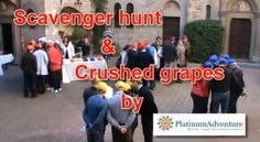 Grape-stomping & scavenger hunt in tuscany  - http://www.whataboutitaly.com/video/grape-stomping-scavenger-hunt-in-tuscany/