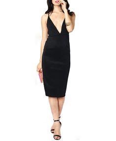 Sexy Style Deep V-neck Backless Cami Dress