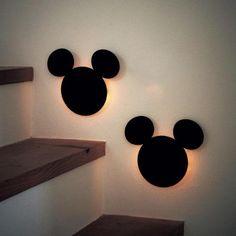 Mickey Silhouette Sensor Wall Light Lamp – JUSTDOITSNOW Lamp Light, Light Up, Mickey Silhouette, Disney Home, Light Sensor, Interior Lighting, Wall Lights, Led, Home Decor