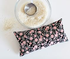 DIY Microwavable Rice Heating Pad - with washable cover!