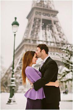 Love at the Eiffel Tower © L'Amour de Paris Romantic Portraits via French Wedding Style
