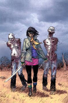 """Michonne - The Walking Dead """"Number 19"""" Cover Art By Charlie Adlard And Cliff Rathburn"""