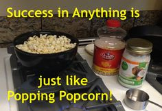 What do Success and Popping Popcorn have in common? As it turns out, quite a bit! Watch this video and see for yourself! Pop Popcorn, Success, Spirit, Watch, Business, Food, Clock, Bracelet Watch, Essen