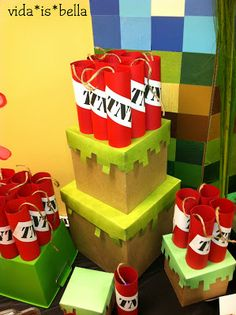 La Vida es Bella: Minecraft Food & Dessert Table